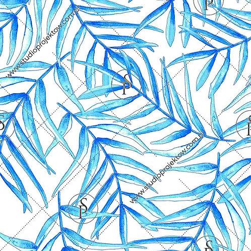 Palm leaves - blues