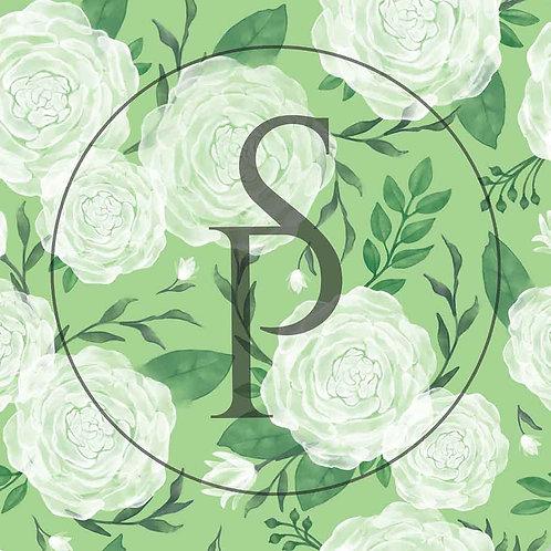Róże akwarelowe - na zielonym tle