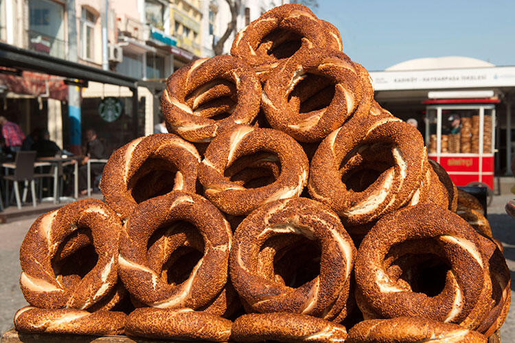 This infamous Turkish street food is at almost every corner and made fresh in every bakery around Istanbul.