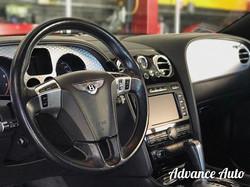 Convertible Bentley interior.
