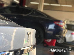 We're just having fun with it 💎 #AdvanceAuto #AACSC #TheShop #carstagram #carsandcoffee #tesla #mod