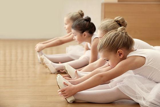 Group of beautiful little ballerinas doi