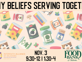 Volunteer Day with Regional Food Bank, Nov 3