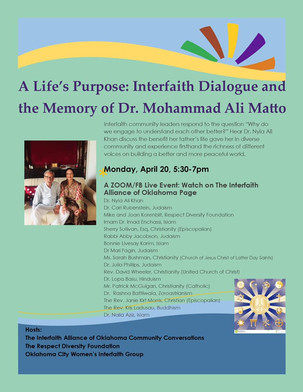 Interfaith Alliance Community Conversation remembers Dr. Mohammad Ali Matto