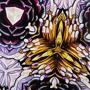 Original Art. Oilo on board.  Purple Kaleidoscope.