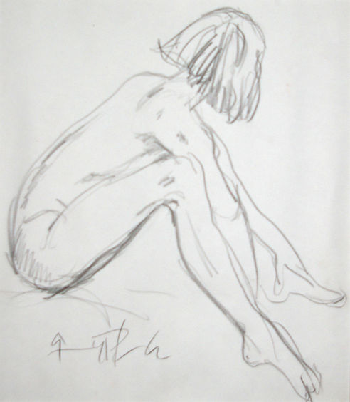 Origional Art. Life drawing in pencil.