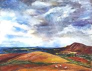 Original Art. Storm passing Caradoc.