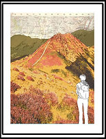 Map Art.  Devil's Mouth  Long Mynd  S