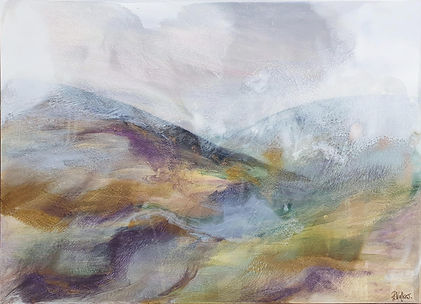 Fells in winter Acrylic and resin. 65cm