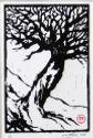 Art Print. Tree linocut