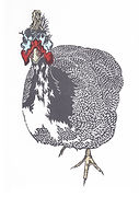 Art.  Linoprint. Tatton Fowl