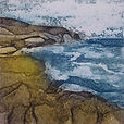 Seascape. Collagraph