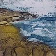 Seascape. Collagraph