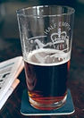 Etched Pint Glasses