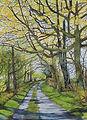 Spring on Green Lane. Print of Watecolour