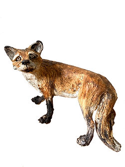 Original Standing Fox.  Ceramic.  14 x