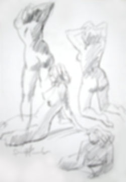 Origional Art. Life drawing in soft pencil.