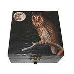 Decoupage Owl box.