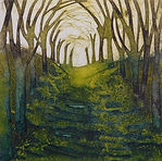 Beautiful Avenue. Collagraph