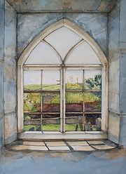 Original Art. Window at Black Mountain Chapel.