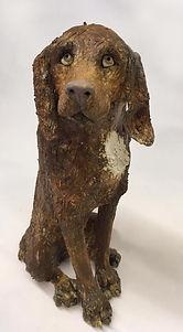 Unique handmade ceramic dog
