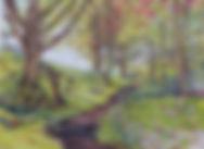 Orignal Art.  Woodland Walk. (Near Ratlinghope).