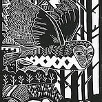 Flyby. Lino Print