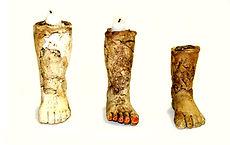 Handmade Ceramic Leg Candles