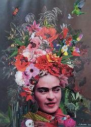 Original art.  Frida of Abundance. Collage