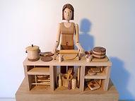 Amazing. Baker. Wooden Automata.