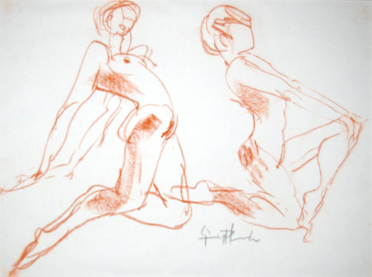 Origional Art. Life drawing in pastel.