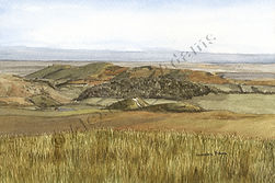 Original Art. Watercolour of Long Mynd, Shropshire
