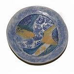 Blue Platter. Stoneware