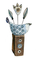 Hand made. Happy Bird. Ceramic
