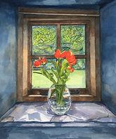 Tulips. Original Watercolour.