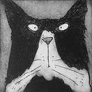 Tomcat.  Etching