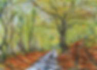 Autumn at Moor Hall. Watercolour