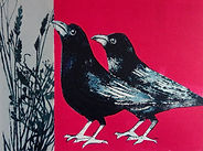 ART Blackbirds collagraph