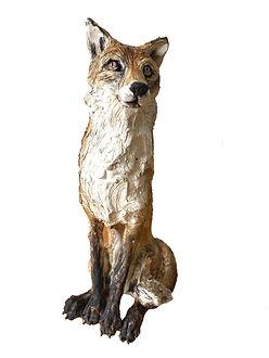 Original Sitting Fox.  Ceramic.  24.5c