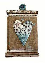 Hand made. Love Token. Ceramic an
