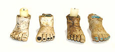 Unique Ceramic Foot Candles