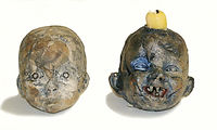 Handmade Ceramic Baby Heads
