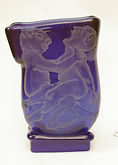 Strange Encounter Sandblasted Blue Vase