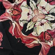Original Art. Oil on board.  Red Kaleidoscope.