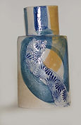Blue Bottle. Stoneware