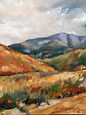 Caer Caradoc. Oil on Board