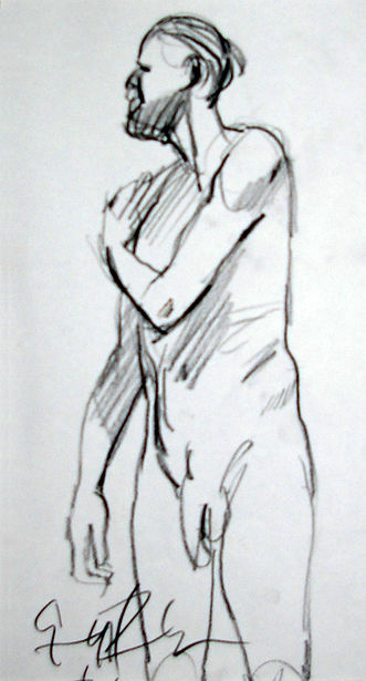 Origional Art. Life drawing in pencil