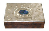Art Box.   Thuya wood, Peweter & Abalone Shell