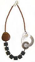 Jewellery. Lava Stone, Jasper & Seaglass Necklace