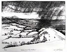 The Wrekin.  Etching